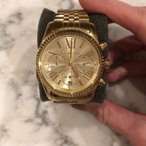 Michael Kors gold chrono watch